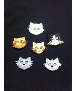 The Cats Gang Novelty Plastic Buttons/DIY Sewing supplies/Kids Craft Sup... - $4.25