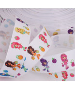 "Strawberry Sweet Girl  Printed Grosgrain Ribbon 1""(25mm)/DIY Hair Bow/He... - $1.60"