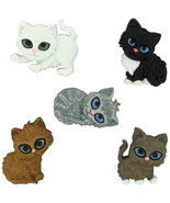 Kitten Kaboodle Plastic Novelty Buttons / Sewing supplies /DIY craft sup... - $3.99