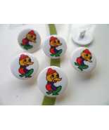 Ugly Duckling Novelty Plastic Buttons/Sewing supplies/DIY craft supplies  - $3.90