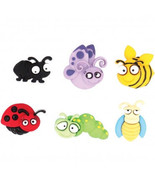 Eyed Bug Novelty Buttons/DIY Sewing supplies/Plastic Buttons/Kids Carft ... - $3.99