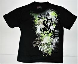 Southpole Boys T-Shirt Black Green and White Size Medium 5 NWT - $13.57