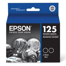 Epson T125120-D2 DURABrite Ultra Black Dual Pack Standard Capacity Cartridge - $45.17