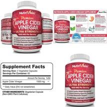 Apple Cider Vinegar Capsules 1500Mg - 120 Soft Vegan Pills - Healthy Wei... - $17.75