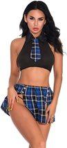 Oliveya School Girl Lingerie Set Sexy Uniform Set Role Play Mini Plaid Skirt image 3