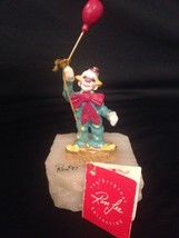 Ron Lee Signed 1987 Clown w/ Balloon Figure Gold Plated Figurine 24K Acc... - $79.44