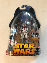 """Action Figure Star wars 4"""" ROTS Red Clone Commander on Card Hasbro ... - $9.90"""
