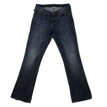 Rock & Republic Womens Straight Jeans Sz 12M Blue Stretch Denim Pants 32... - $21.73