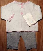Girl's Size 6 M 3-6 Months 3 Pc White Carter's NWT Cardigan, Heart Top &... - $8.00