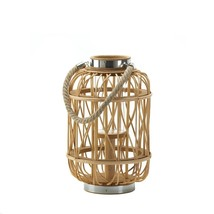 Medium Woven Rattan Candle Lantern - $46.02