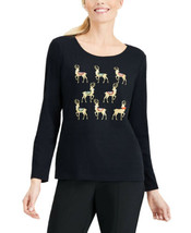 Karen Scott Women's Plus Size Cotton Scoop-Neck Blouse Pullover Shirt Tops - $24.88+