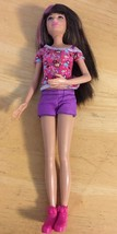 "10"" Brunette Barbie Doll With Pink Streaked Hair 2010 Mattel Skipper - $14.85"