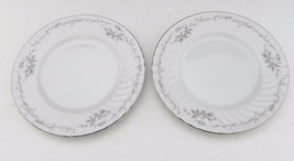 Gold Standard Genuine Porcelain China Bread & Butter Plates Pink Rose Ja... - $12.86