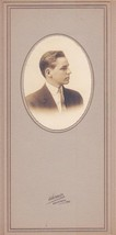 Lawrence Howard Marston Cabinet Photo - Lincoln Academy, Maine, 1913 Class - $17.50