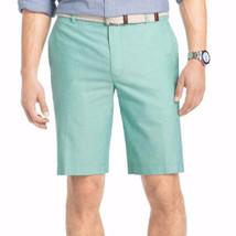 IZOD Men's Shorts Newport Oxford Simply Green Flat Front Size 38 New - $32.66