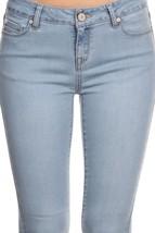 Womens Skinny Jeans / Womens Stretch Jeans / Stretch Skinny Jeans / Light Wash image 4