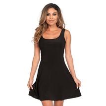 Leg Avenue Basic Skater Style Women's Adult Costume Dress Black Medium - $21.99