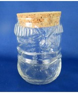 Snowman Glass Candy Container with Cork Top - $5.00