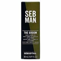 SEB MAN The Groom by Sebastian, Men's Hair & Beard Oil, 1 oz. image 1