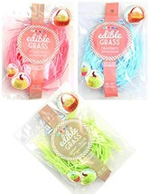 Edible Easter Grass Green Apple, Pink Strawberry, Blueberry Flavors 3 pack image 1