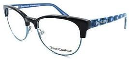 Juicy Couture JU928 ETJ Girls Eyeglasses Frames 47-16-125 Black / Teal w... - $62.17