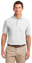 Port Authority TLK500P Tall Men's Silk Polo Shirt - White - $17.98+