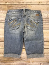 Silver J EAN S Shorts Buckle Super Low Distressed Tuesday Denim Jean Short 26 New - $19.97