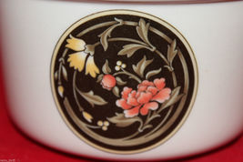 Vintage Wedgwood Mikado Open Sugar Bowl Brown Yellow Pink Flowers England Oven image 6