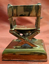 """Vintage Director's Chair Paperweight 2""""  Plaque removed Bottom Front image 4"""