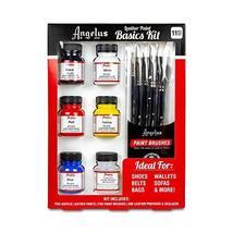 Angelus Leather Paint Starter Kit with Deglazer and Brush set - $29.35