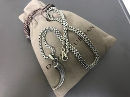 "David Yurman Sterling Silver Eagle Claw Pendant with 22"" Chain - $349.99"