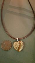 Natural, Healing  Picture Jasper Necklace Heart Shaped, Men Women Valent... - $7.91