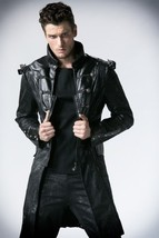 NEW PUNK Rave Gothic Vampire Heavy Metal Jacket Coat Y366 FAST POSTAGE - $88.86+