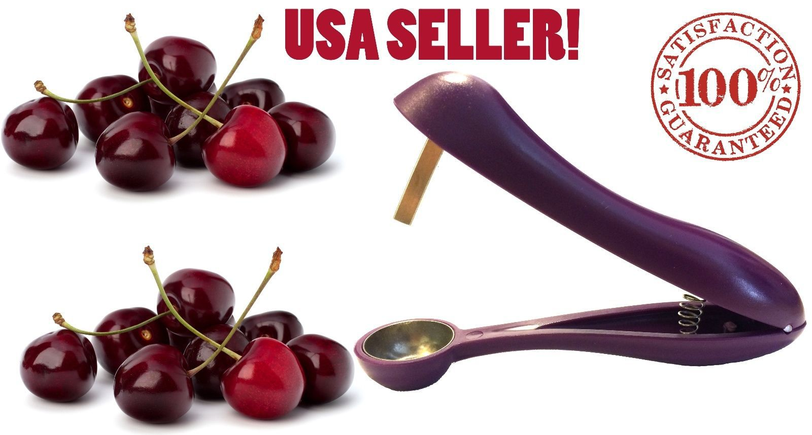 Cherry Pitter Olive Stoner USA Sell- Corer, Hand Held Seed Remover Cherries Tool