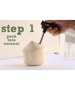 CocoDrill Coconut Opener Tool - Tap Coco Water Cut Saw Young Thai Drille... - $6.67
