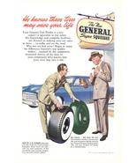 1949 General Tires Jet-C-M Cold Mix Rubber print ad - $10.00