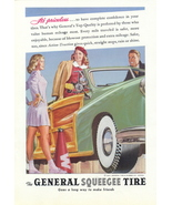 1947 General Squeegee Tire open top car print ad - $10.00