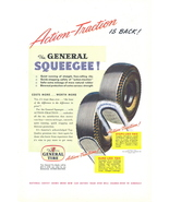 1947 General Squeegee Action Traction Tires print ad - $10.00