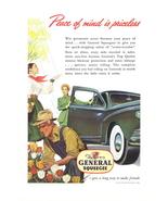 1948 General Squeegee Tire flower merchant print ad - $10.00