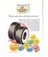 1948 General Tires black / white sidewall balloons print ad - $10.00