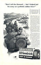 1943 BF Goodrich Tire Military Army Convoy print ad - $10.00
