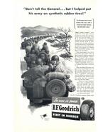 1943 BF Goodrich Tire Military Army Convoy print ad - $10.00