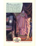 1945 General Tire mink fur coat artistic print ad - $10.00
