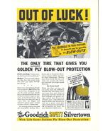 1937 Goodrich Safety Silvertown Golden Ply Tires print ad - $10.00