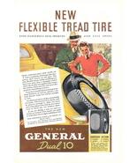 1937 General new Flexible Tread Dual 10 Tires print ad - $10.00