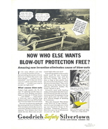 1933 Goodrich Tires Life Saver golden ply dialogue print ad - $10.00