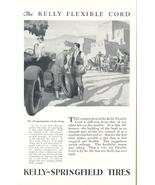 1925 Kelly Springfield Tires vintage art work print ad - $10.00