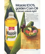 1962 Mazola Golden Corn Oil Salads Dresses print ad - $10.00