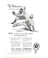 1948 Texaco Check-up Lubricant Oil Gasoline Baseball print a - $10.00