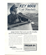 1950 Sinclair Oil Navy Commander Tankships print ad - $10.00